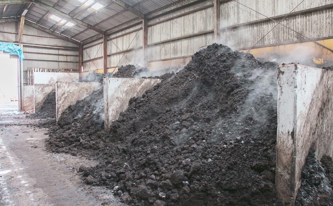 堆肥化のための発酵と乾燥